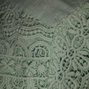 J. Crew Tops - J. Crew Crochet Linen Mint Blouse